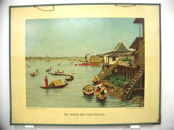 De Moesi bij Palembang.  Ykema schoolplaten., Aardrijkskundige wandkaarten Nederlandsch Indië.,  Tweede serie No: 2