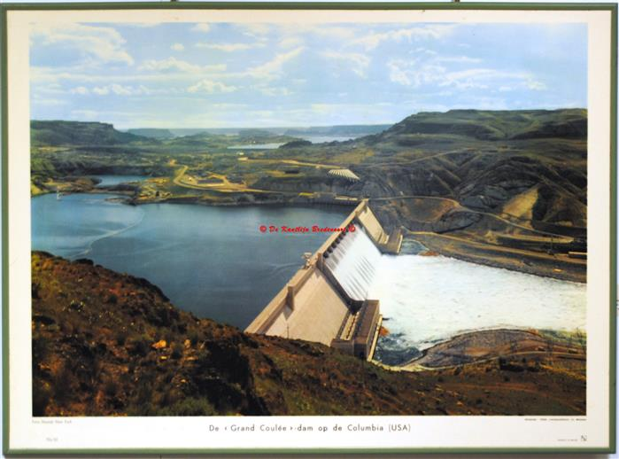 The Grand Coulee Dam on the Colorado.( schoolplaat - wall chart)