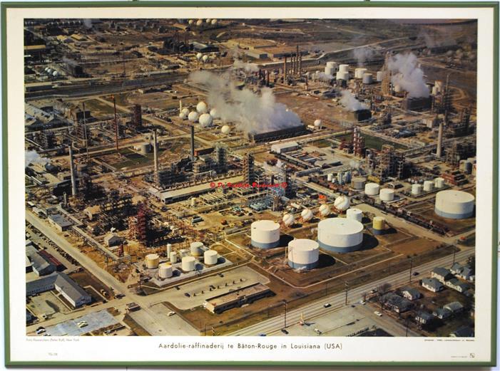Louisiana petroleum refinery.( schoolplaat - wall chart)