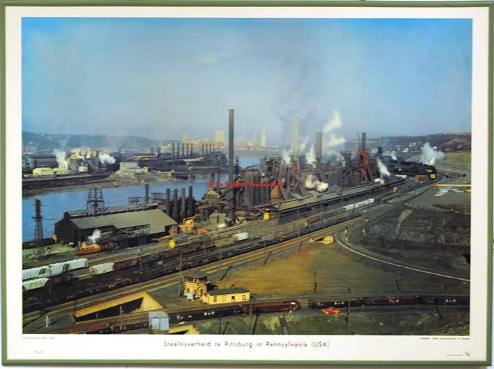 Pittsburg steel industry.( schoolplaat - wall chart)