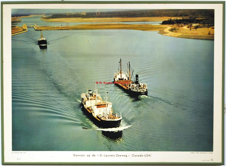 Convoy on the St Laurens seaway.( schoolplaat - wall chart)