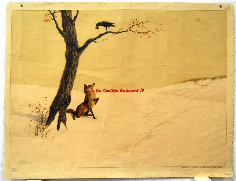 ( SCHOOLPLAAT ) The fox and the raven = De vos en de raaf = Der Fuchs und der Rabe