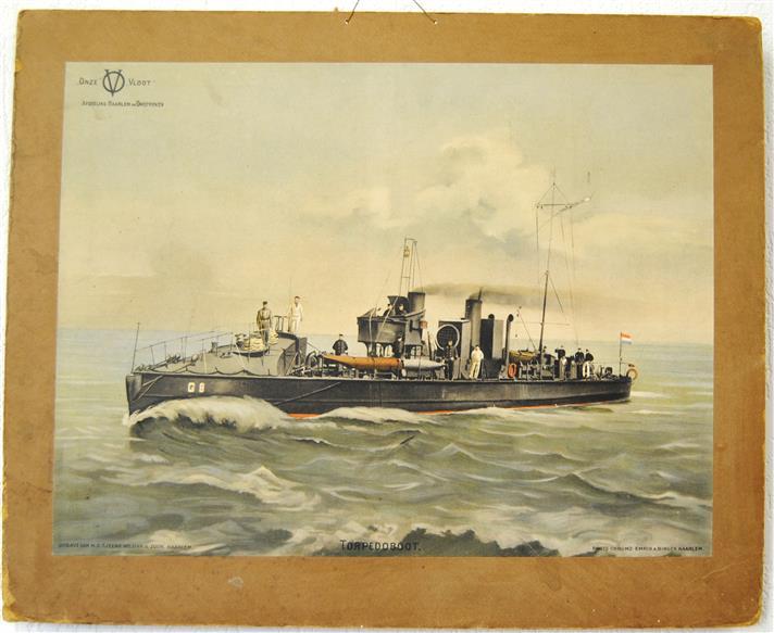 Onze Vloot. Afdeling Haarlem en Omstreken: Torpedoboot. ( SCHOOLPLAAT )