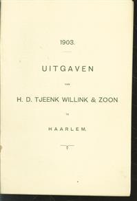 ( fondscatalogus) Uitgaven van H.D.Tjeenk Willink & Zoon.