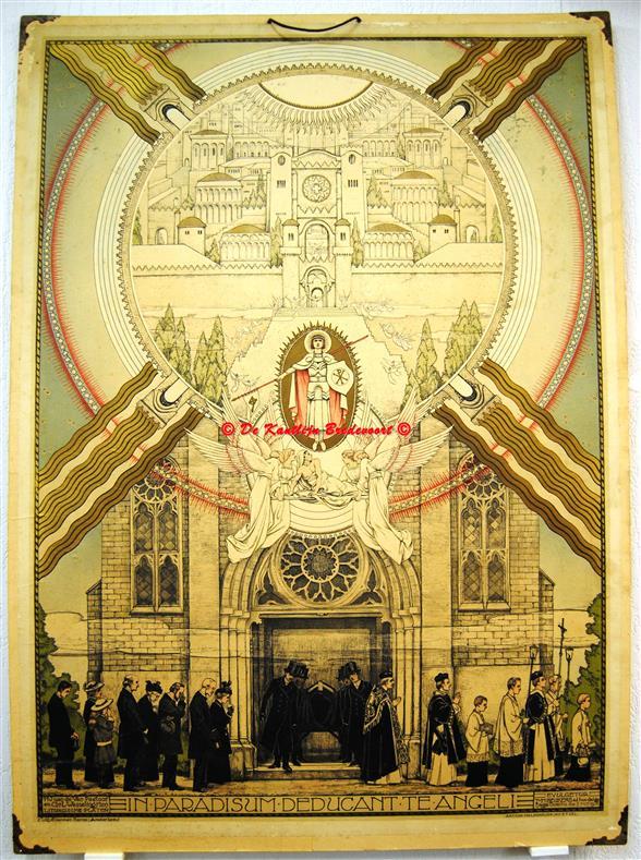 (SCHOOLPLAAT - SCHOOL POSTER / MAP - LEHRTAFEL) In Paradisum deductant te Angeli. De uitvaart - De begrafenis