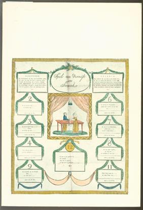 Spel van vernuft en smaak. [Fotografie: H. Samsom. Spelen uit de verzameling van C.F. van Veen. Tekst: J. Romijn. Idee. layout en ills: G. Douwe].