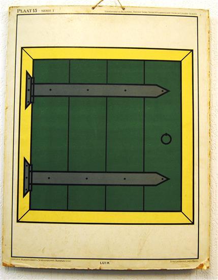 ( SCHOOLPLAAT ) Nieuwe serie teekenvoorbeelden voor de Lagere School. Plaat 15 serie I - LUIK