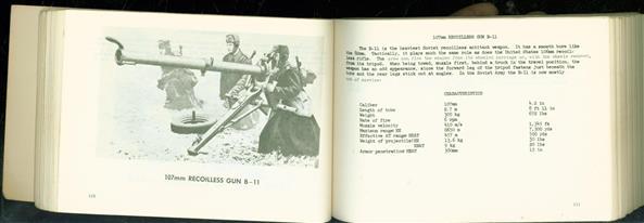 Identification handbook soviet and satelite ordance equipment. Sixt revised edition. PART ONE