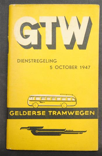 Gelderse tramwegen ( GTW ) dienstregeling 5 October 1947