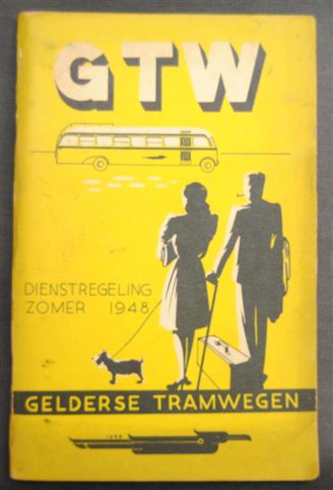 Gelderse tramwegen ( GTW ) dienstregeling zomer 1948