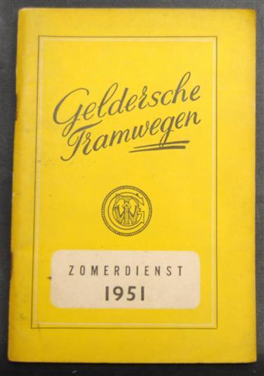 Gelderse tramwegen ( GTW ) zomerdienst 1951 ( dienstregeling )