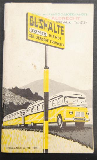 Gelderse tramwegen ( GTW ) zomer dienstregeling 1955