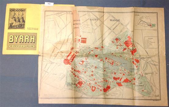 ( MAP ) Plan officiel de l'exposition Coloniale Paris 1931
