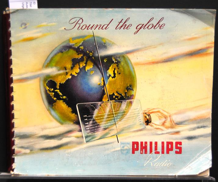 Philips introduce the new 1950 radio receivers. Round the Globe.