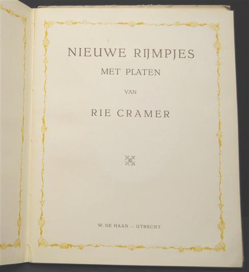 Nieuwe rijmpjes met platen van Rie Cramer