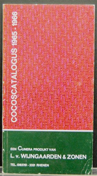 Cocoscatalogus 1965 - 1966  (= cocosmatten )( Sales catalogue on cocos carpets )