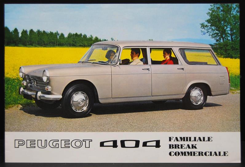 Peugeot 404 Familale, Break, Commerciale ( German language )