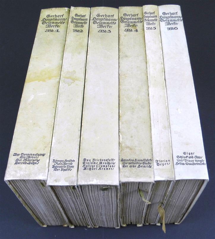 Gesammelte Werke in sechs Bänden. ( VELUM binding )