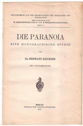 Die Paranoia : eine monographische Studie