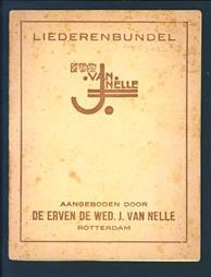Liederenbundel aangeboden door de erven de Wed. J. van Nelle, Rotterdam