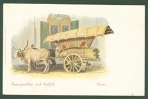 ( Postcard ) Dutch East Indies: Transportkar met buffels Java