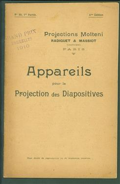 ( Sale Cataloge ) Appareils pour la projection des diapositives ( = Apparatus for the projection of magic lantern plates)