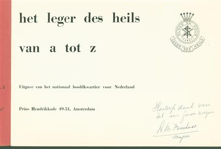 Het Leger des Heils van a tot z. ( = The Salvation Army from a to z. )