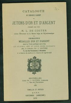 Catalogue du précieux Cabinet de jetons d'or et d'argent formé par feu.