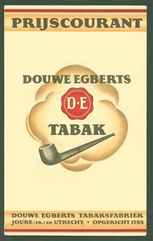 Gedenkschrift uitgegeven door de N.V. Douwe Egberts tabaksfabrieken, koffiebranderijen en theehandel, Joure en Utrecht, 1753-1928 , N.V. Douwe Egberts : Joure , Utrecht, 1753-1928, + PRIJSCOURANT