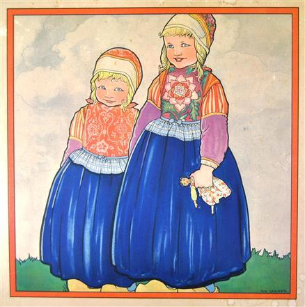 (SCHOOLPLAAT - SCHOOL POSTER / MAP - LEHRTAFEL) Nieuwe kinderplaten (Nationale Klederdrachten):  Marken