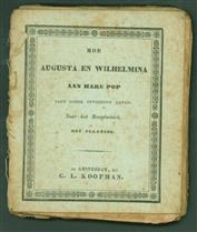 Hoe Augusta en Wilhelmina aan hare pop eene goede opvoeding gaven.