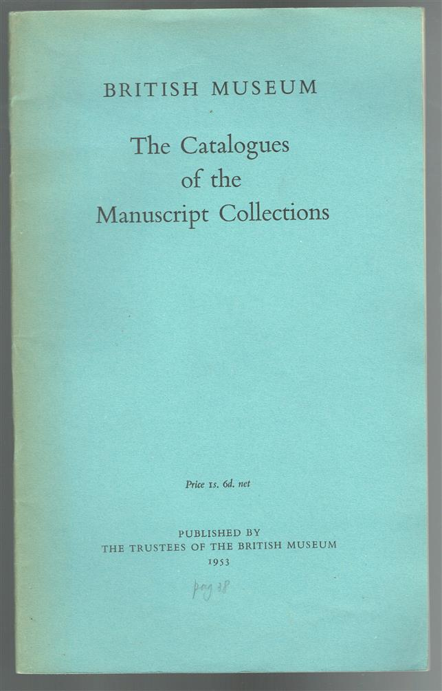 The catalogues of the manuscript collections in the British Museum