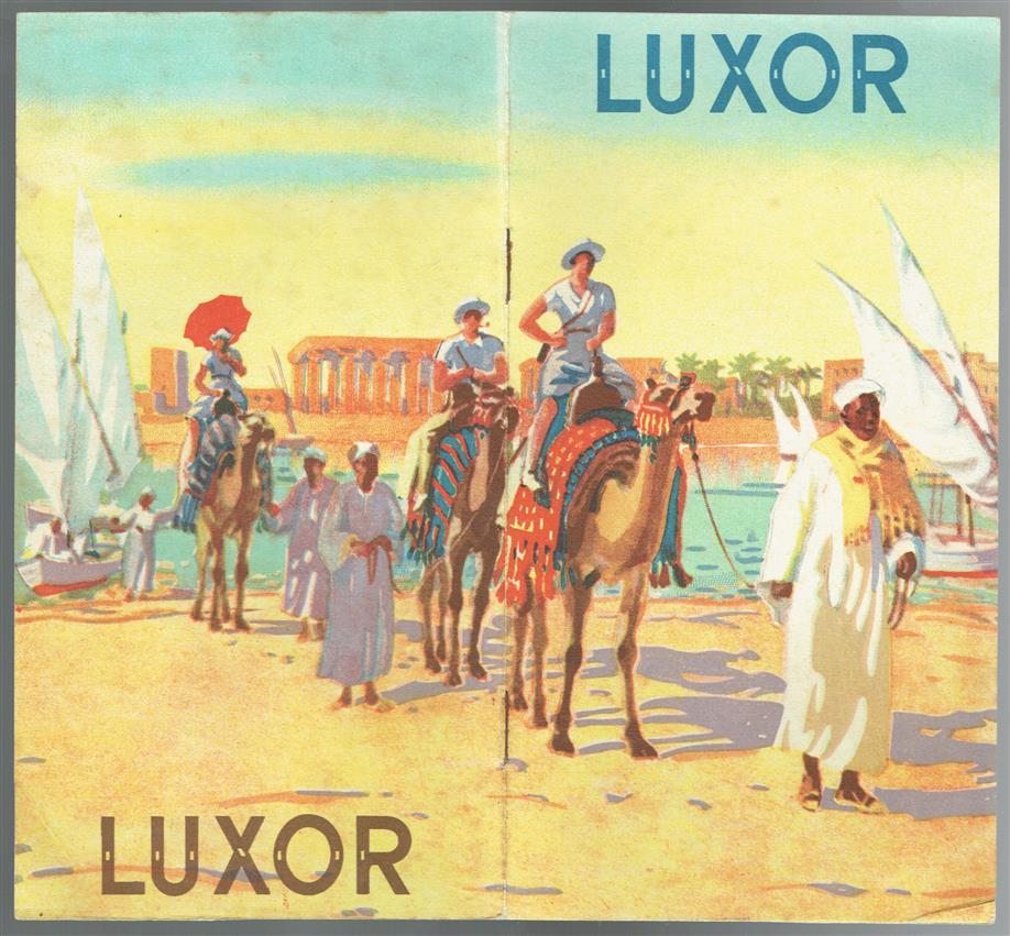 (TOERISTEN) LUXOR, Egypt. Tourists bruchure with very nice graphics.