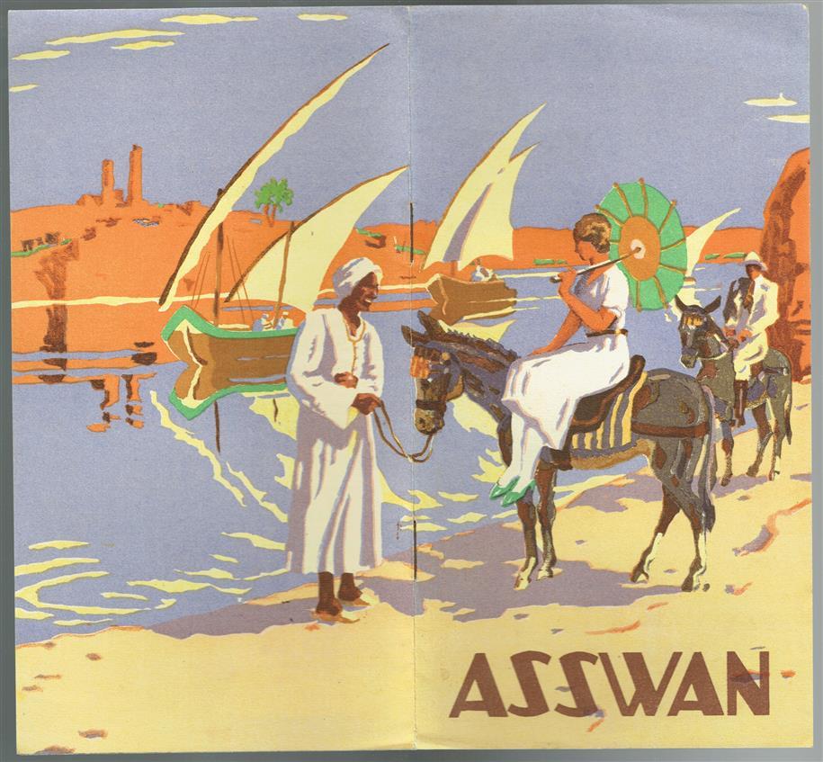 (TOERISTEN) ASSWAN., Egypt. Tourists bruchure with very nice graphics.