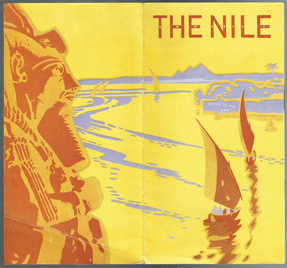 (TOERISTEN) THE NILE . Egypt. Tourists bruchure with very nice graphics.