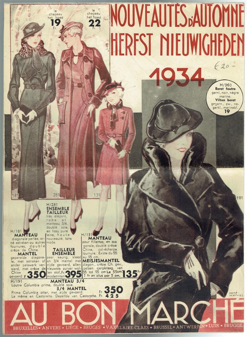 (BROCHURE) Herfst Nieuwigheden - Nouveautes d'Automne. ( Au Bon Marchë ) 1934