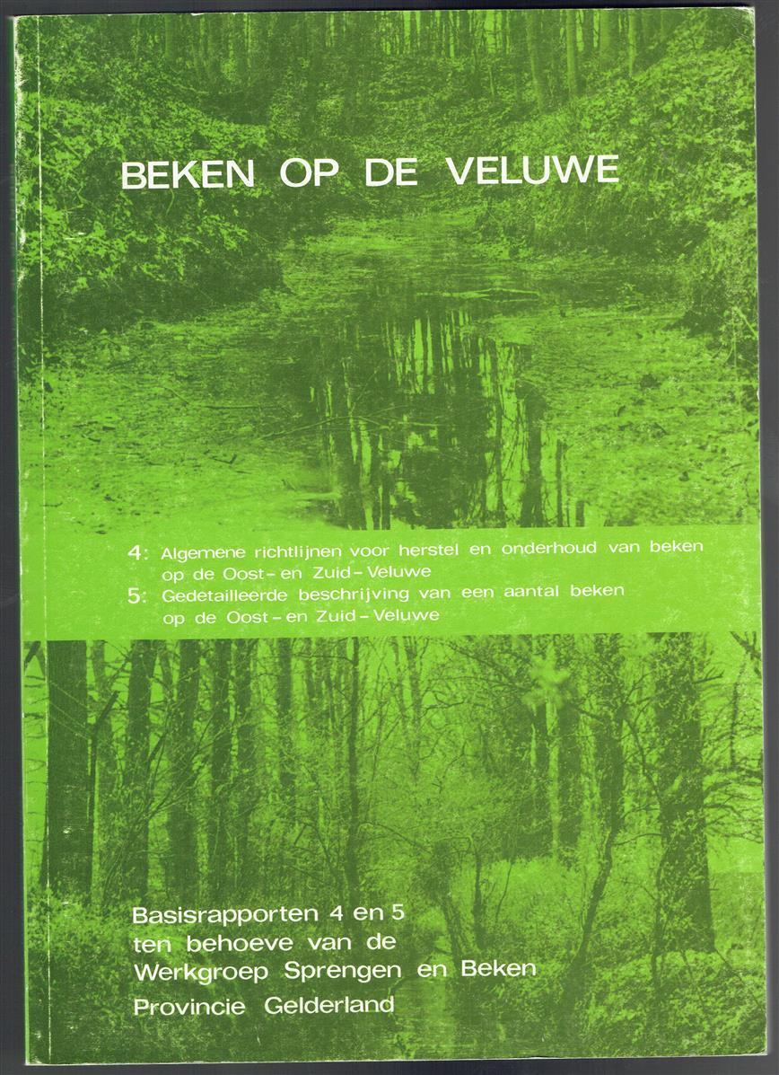 Beken op de Veluwe : basisrapporten 4 en 5 ten behoeve van de Werkgroep Sprengen en Beken Provincie Gelderland