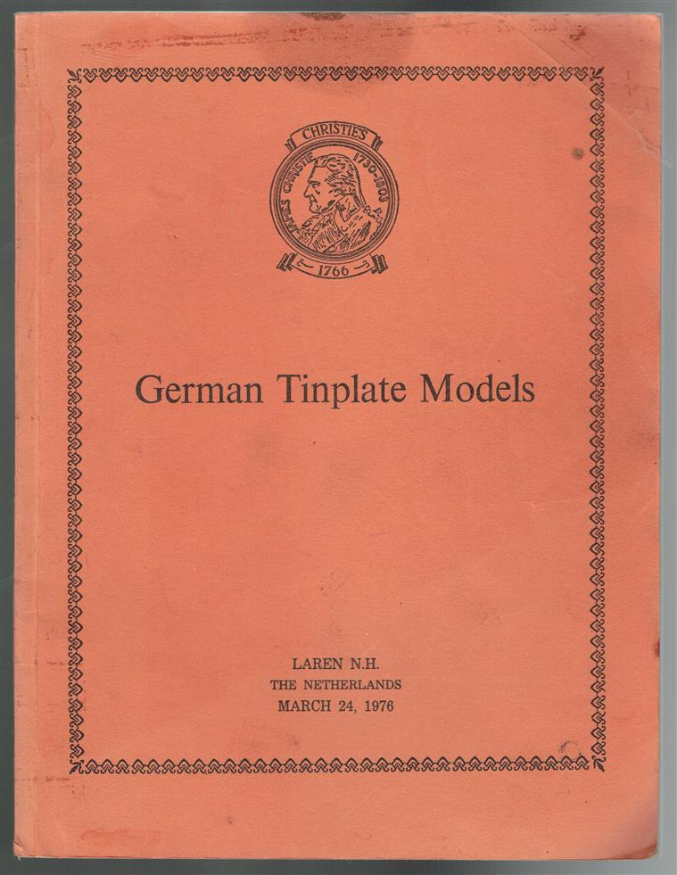 German tinplate models from the Ton Lensink Collection. ( Tin steam engine models )