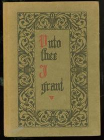 """""""Unto thee I grant"""""""