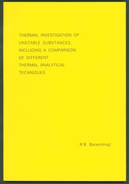 Thermal investigation of unstable substances, including a comparison of different thermal analytical techniques