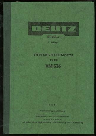 Viertakt-Dieselmotor Type VM 536 2 parts