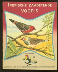 Tropische zaadetende vogels ( aankondigings folder )