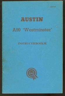 Austin A99 'Westminster' instructieboekje ( = driver's handbook.)