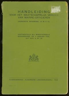 Handleiding voor het maatschappelijk verkeer van marine-officieren