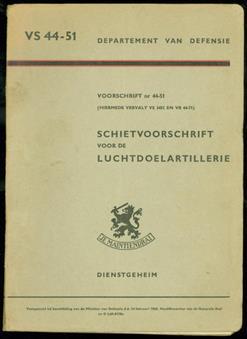 Schietvoorschrift voor de luchtdoelartillerie.