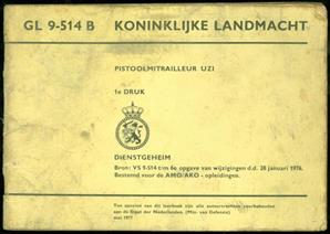 Pistoolmitrailleur UZI : GL 9-514 B