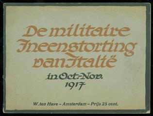 De militaire ineenstorting van Italië in Oct.-Nov. 1917.