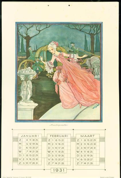 kalender voor 1931 - Calendar for 1931.