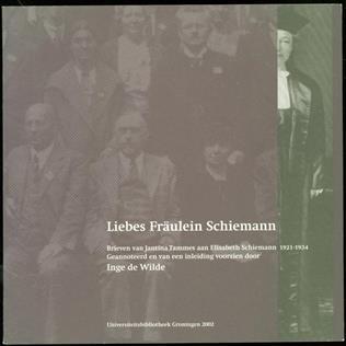 Liebes Fräulein Schiemann : brieven van Jantina Tammes aan Elisabeth Schiemann, 1921-1934