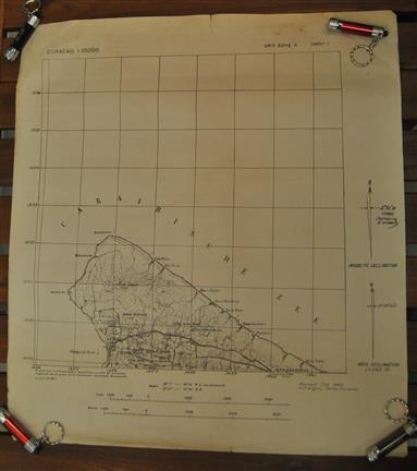 Stafkaarten Curaçao CURACAO 1942 ( 14 parts / maps out of 18 )